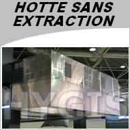 Hotte professionnelle sans extraction exterieure largeur for Hotte aspirante evacuation exterieure